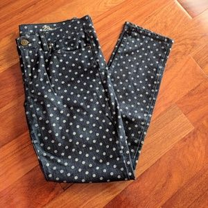 J.Crew Toothpick Denim Dotted Ankle Jeans